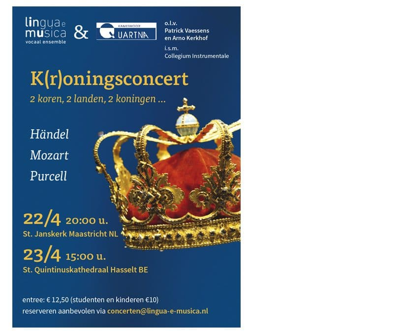 K(r)oningsconcert 22 en 23 april 2017