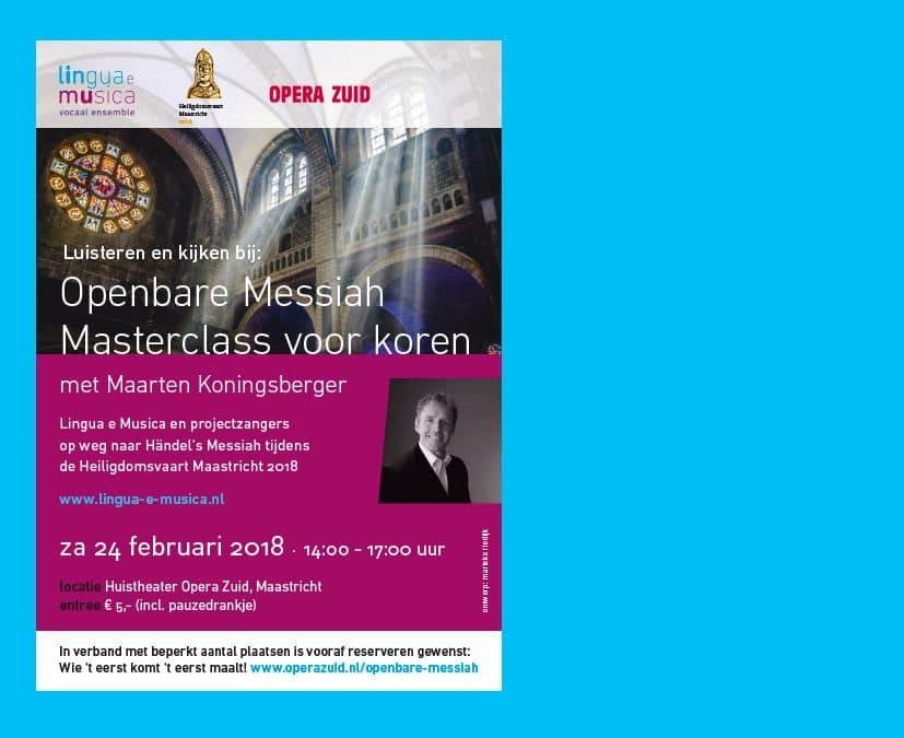 Kom luisteren en kijken bij Messiah Masterclass voor koren met Maarten Koningsberger (uitverkocht!)