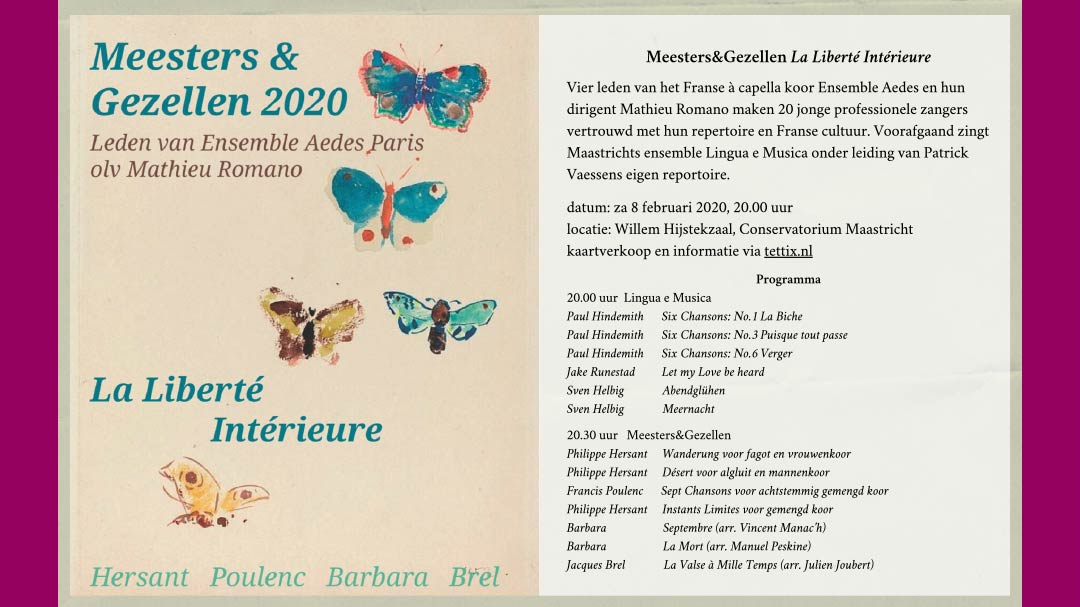 Voorprogramma Meesters & Gezellen 8 februari 2020