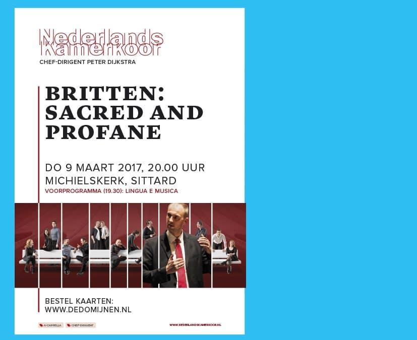 Voorprogramma Nederlands Kamerkoor 9 maart 2017