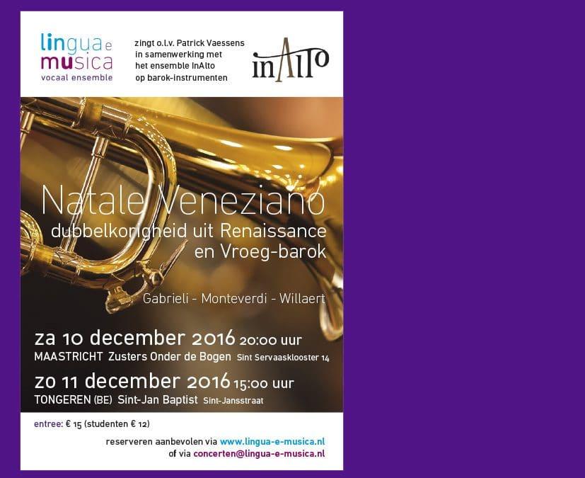 Concert Natale Veneziano 10 en 11 december 2016